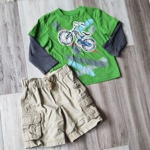 Bicycle Layered Look L/S with Carter's Cargo Short